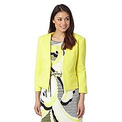 Principles by Ben de Lisi - Designer bright yellow textured jacket