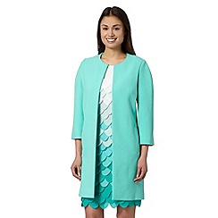 Principles by Ben de Lisi - Designer turquoise dress coat