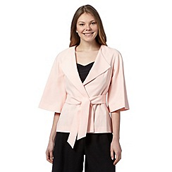 Principles by Ben de Lisi - Designer light pink satin kimono jacket