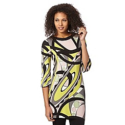 Principles by Ben de Lisi - Designer lime mixed shape print tunic