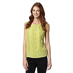 Principles by Ben de Lisi - Designer lime laser cut scalloped shell top