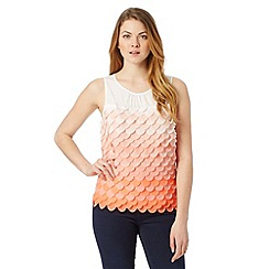 Principles by Ben de Lisi - Designer bright orange fish scale shell top