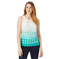 Principles by Ben de Lisi - Designer turquoise fish scale shell top