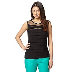 Principles by Ben de Lisi - Designer black shutter tiered top