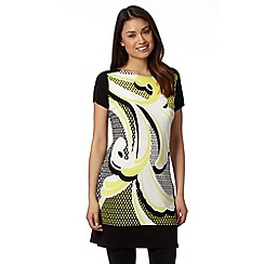 Principles by Ben de Lisi - Designer bright yellow scroll print tunic