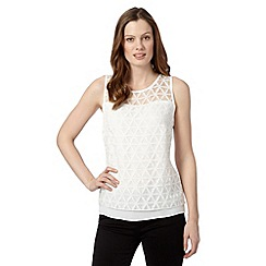 Principles by Ben de Lisi - Designer ivory layered burnout top