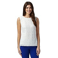 Principles by Ben de Lisi - Designer ivory square lace top