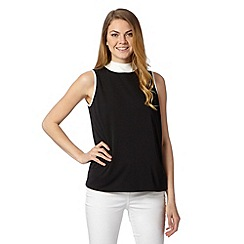 Principles by Ben de Lisi - Designer black crepe tie neck top