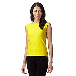 Principles by Ben de Lisi - Designer bright yellow ribbed top
