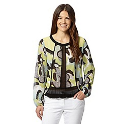 Principles by Ben de Lisi - Light green geometric printed blouse