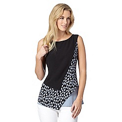 Principles by Ben de Lisi - Designer black spotty layered top