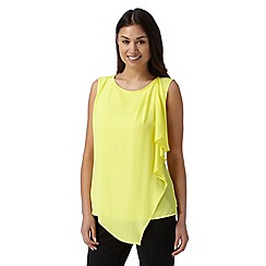 Principles by Ben de Lisi - Designer bright yellow asymmetric layer top