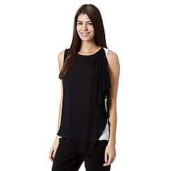 Principles by Ben de Lisi - Designer black asymmetric layer top