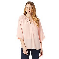 Principles by Ben de Lisi - Designer pale peach kimono sleeve top