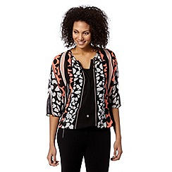 Principles by Ben de Lisi - Designer bright orange jigsaw print blouson top