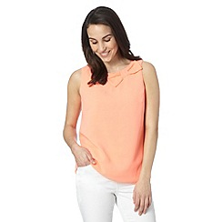 Principles by Ben de Lisi - Designer bright orange shell top