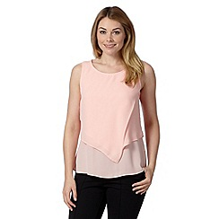 Principles by Ben de Lisi - Designer pale peach double layer top