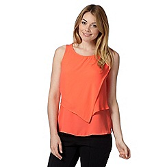 Principles by Ben de Lisi - Designer bright orange double layer top