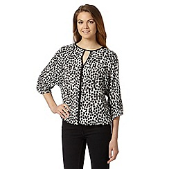 Principles by Ben de Lisi - Designer off white spotted print blouse