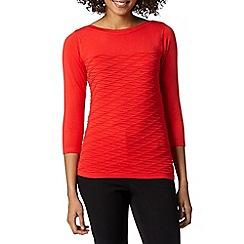Principles by Ben de Lisi - Designer bright red textured wave jumper