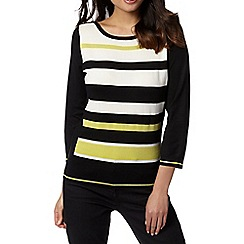 Principles by Ben de Lisi - Designer light green striped jumper