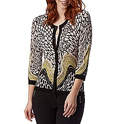 Principles by Ben de Lisi - Designer black animal swirl cardigan