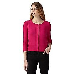 Principles by Ben de Lisi - Designer pink ribbed trims cardigan