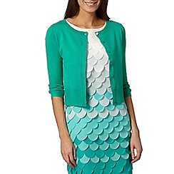Principles by Ben de Lisi - Designer green pointelle knit cardigan