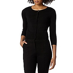 Principles by Ben de Lisi - Designer black ribbed sleeve cardigan