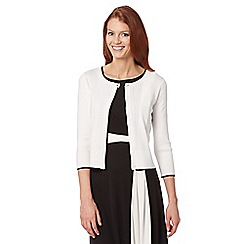 Principles by Ben de Lisi - Designer white ribbed sleeve cardigan