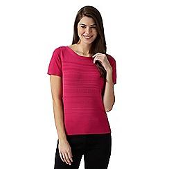 Principles by Ben de Lisi - Designer pink ridge striped jumper