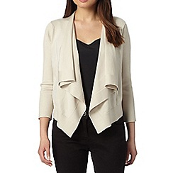 Principles by Ben de Lisi - Designer natural cropped waterfall cardigan
