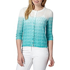 Principles by Ben de Lisi - Designer turquoise ombre cardigan