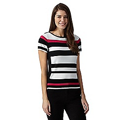 Principles Petite by Ben de Lisi - Designer pink block striped jumper