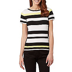 Principles by Ben de Lisi - Designer yellow monochrome striped jumper
