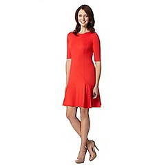 Principles Petite by Ben de Lisi - Petite designer bright red flared ponte dress