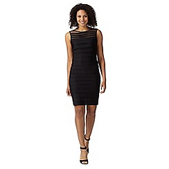 Principles by Ben de Lisi - Designer black shutter tiered jersey dress