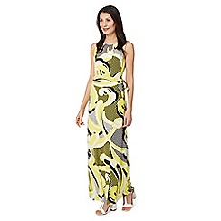Principles Petite by Ben de Lisi - Designer bright yellow textured maxi dress
