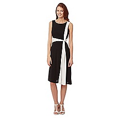 Principles by Ben de Lisi - Designer black monochrome twist front dress