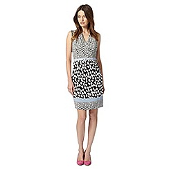 Principles by Ben de Lisi - Designer black spot and dash belted dress