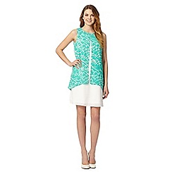 Principles by Ben de Lisi - Designer turquoise scratch print double layered dress