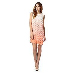 Principles Petite by Ben de Lisi - Petite designer bright orange fish scale ombre dress