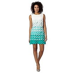 Principles by Ben de Lisi - Designer turquoise fish scale shift dress