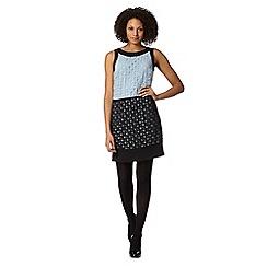 Principles by Ben de Lisi - Designer pale blue burnout colour block dress