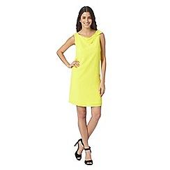 Principles by Ben de Lisi - Designer bright yellow bow mini dress