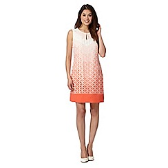 Principles by Ben de Lisi - Designer pale peach ombre triangle burnout dress