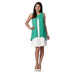 Principles by Ben de Lisi - Designer turquoise double layer shift dress