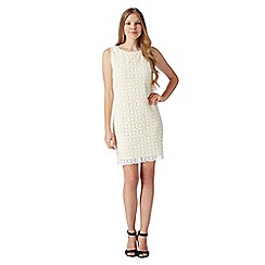 Principles Petite by Ben de Lisi - Designer bright yellow square lace shift dress