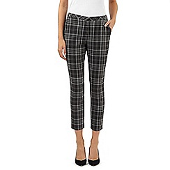 Principles Petite by Ben de Lisi - Designer grey checked cropped trousers