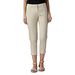 Principles by Ben de Lisi - Designer taupe cropped trousers